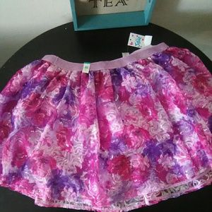 New Girls Sequined Tulle Skirt by Justice Sz 18